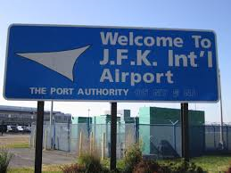 JFK-JFK International airport sign