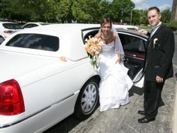 special white Wedding Limousine