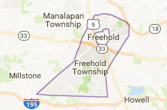 freehold airport limo service map