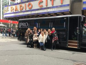 christmas in ny limousine party bus