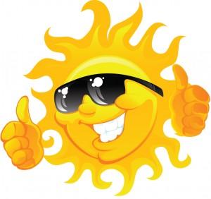 thumbs up sun