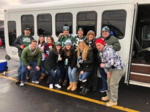 tailgating party limo bus rental