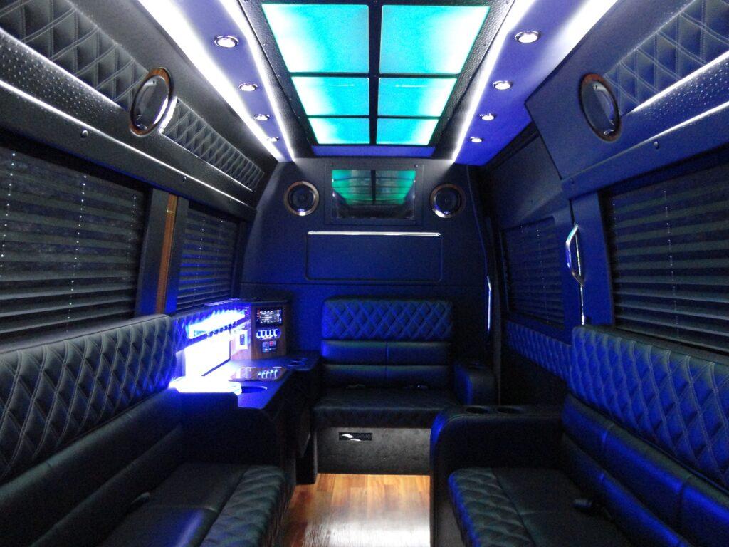 ocean county sprinter limousine interior