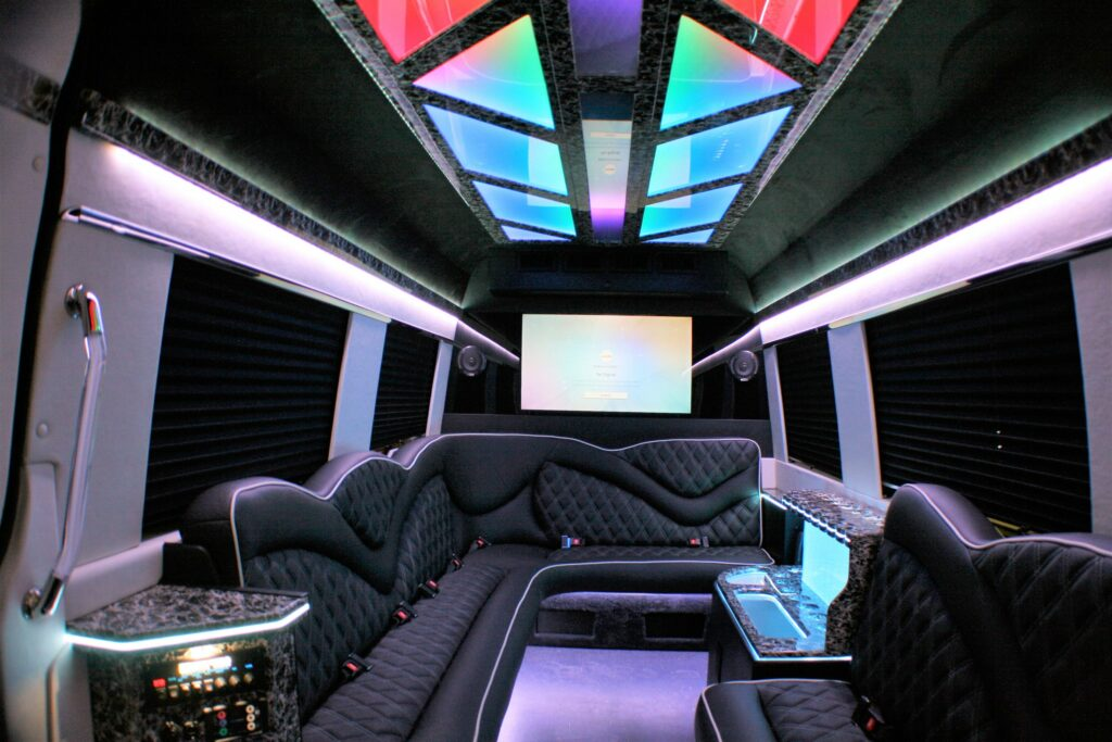 sprinter party bus interior