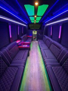 our fleet limo coach interior 1