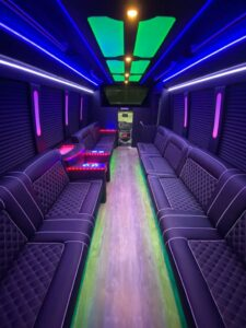prom limo coach interior 1